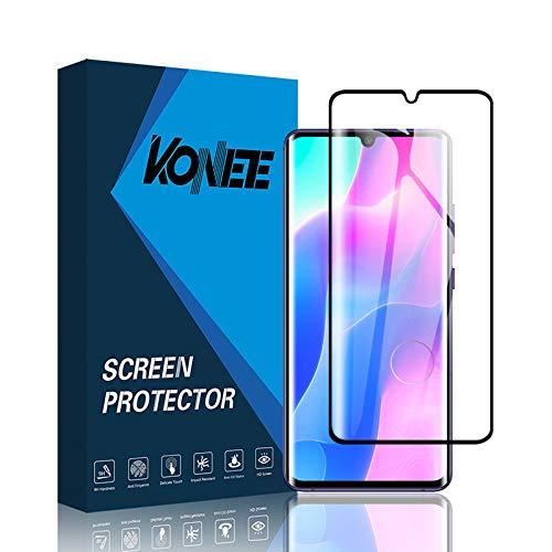 KONEE Vetro Temperato Compatibile con Xiaomi Mi Note 10 Lite, [ Copertura Totale, Durezza 9H, Anti Graffio, Ultra Trasparente ] Copertura Completa Pellicola Protettiva per Xiaomi Mi Note 10 Lite