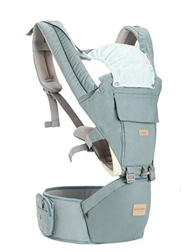 Insular Baby Carrier with Hip Seat, 3-in-1 Convertible Carrier, 360 Ergonomic Baby Carrier Backpack, Cotton Material for Four Seasons, Travelling Baby Wrap Carrier (Sky Blue)