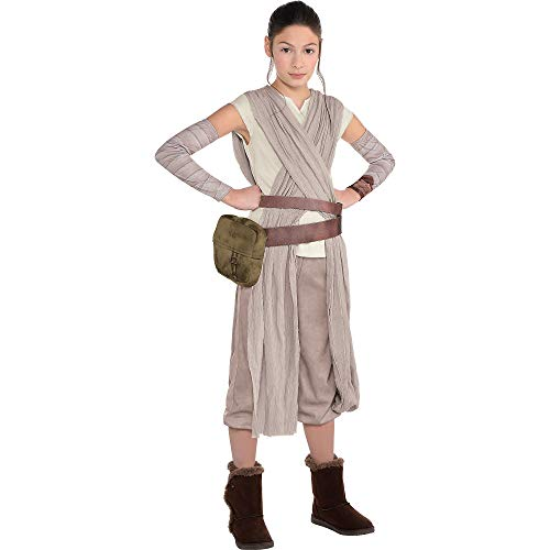 Costumes USA Star Wars 7: The Force Awakens Rey Costume for Girls, Size Large, Includes Jumpsuit, Arm Warmers, and More