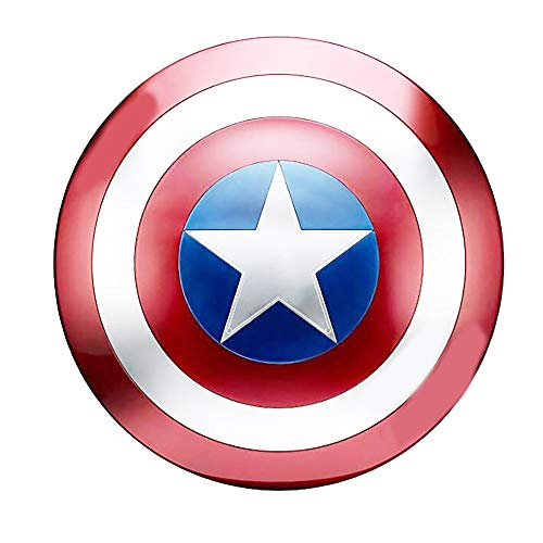 B&T Captain America Shield Full Metal Handheld Movie Edition Bar Creativo Decoración de Pared Suave Colgante Aluminio América Accesorios para Hombre Cosplay Escudo 1: 1