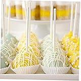 Hotaden 80 Stück 10cm Safe Kunststoff Lollipop-Stick Kuchen Pop Futtersticks für Schokolade Süße...