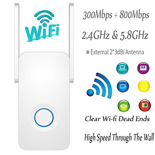 Wifi signaalversterker, wifi-extender repeater, hogesnelheids-wifi-repeater 1200 2,4 G wireless range extender versterker 5 GHz wifi-versterker 2 * 3dbi-antenne Wireless Signal Booster repeater