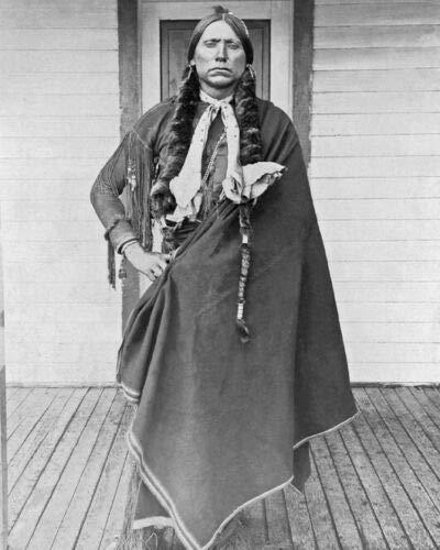 ShopUsA 1890 Comanche Chief QUANAH Parker - Póster fotográfico brillante (8 x 10 cm), diseño de Comanche Chief QUANAH Parker