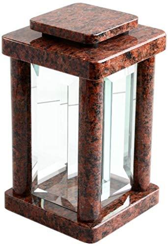 Lámpara de lápida de granito Vanga, para cementerio, joyería de cristal, luz moderna