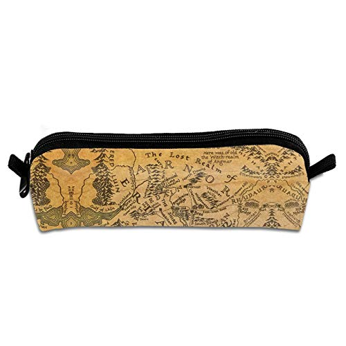 Fantasy The Lo-rd of The Ri-ngs rob Inglis Frodo Baggins Journeys in Middle-Earth Shadowed Paths Pencil Bag Organizer Stationery Bag Cloth Makeup Cosmetic Pouch Merch School Mothers Day Gifts