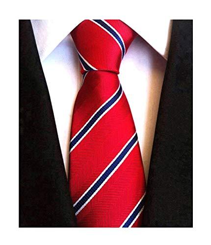 Evening Work Party Men/'s Single Stripe Woven Microfibre Polyester Tie