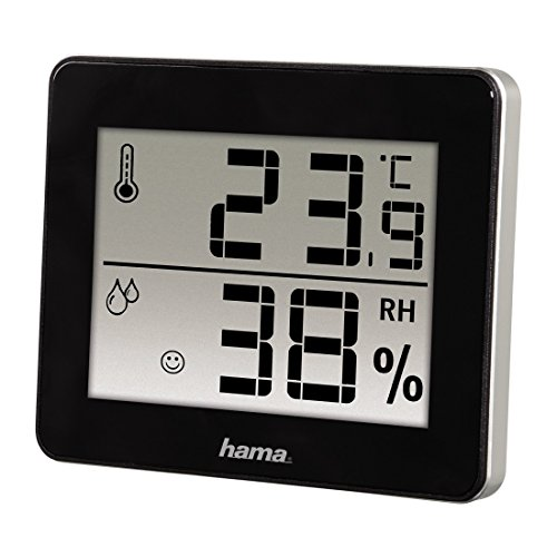 "Hama Thermomètre/hygromètre ""TH-130"", noir"