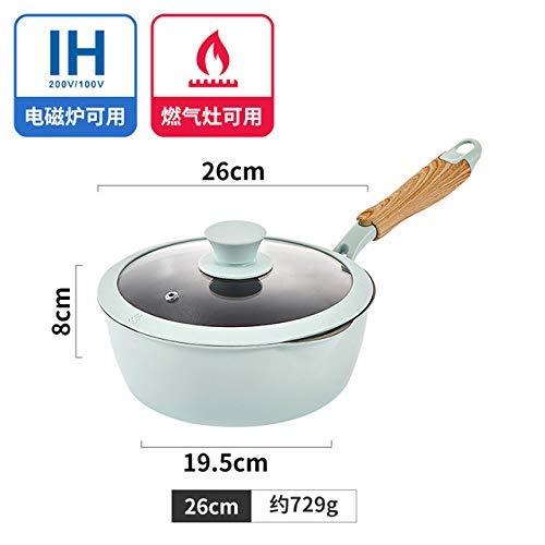 Yuzi, koekenpan voor de keuken zonder steel, wok, huishouden, jade en je verbrandt fying pan, elektromagnetische oven, voor algemeen gebruik, 15 x 18 cm, Yuzi, braadpan van roestvrij staal