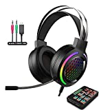 Voice Changer Gaming Headset with Mic for...