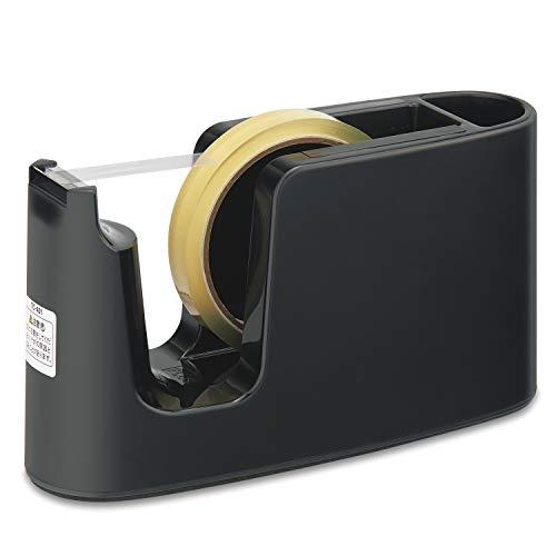 プラス テープカッター テープ簡単交換 ペン立て付 TC-401 ブラック 31-271 TC-401 31-271
