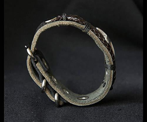 Rustic Leather Cross Bracelet 2