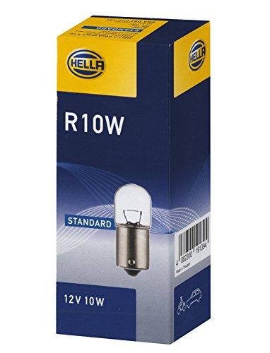 HELLA 8GA 002 071-131 Ampoule - R10W - Standard - 12V - 10W - Type de culot: BA15s - Boîte - Quantité: 10