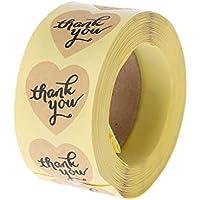 Zkm en forma de corazón gracias pegatina Kraft Paper Craft decoración de la boda sellos Scrapbook DIY Craft