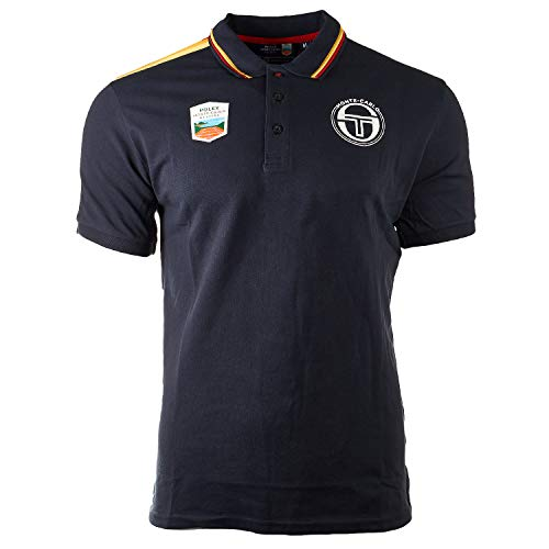 Sergio Tacchini Carter Rolex Monte Carlo Masters Staff Tennis Polo Shir (Large, Navy/White)