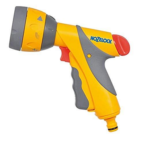 Hozelock - Pistola de riego con roseta y seis tipos de rociado adaptable a todos los conectores del mercado
