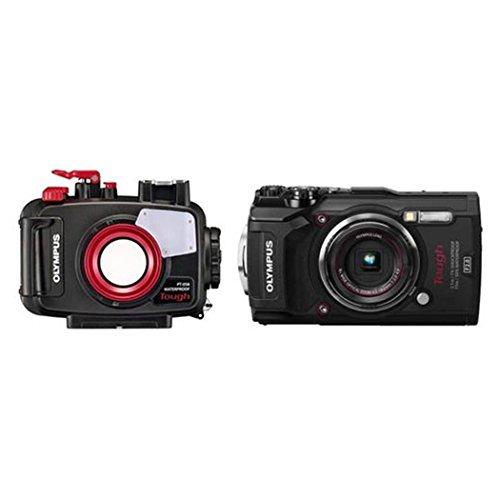 Olympus Tough TG-5 cámara de acción, 12 megapíxeles, vídeo 4k, 120fps, Rojo
