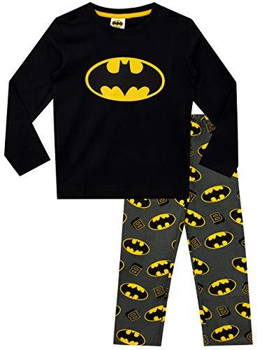 DC Comics Jungen Schlafanzug mit Umhang Batman Schwarz 140