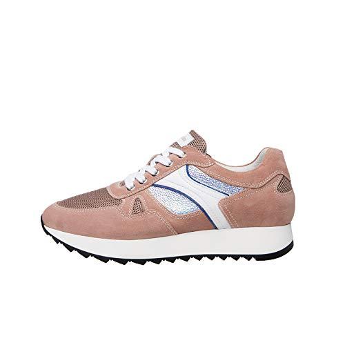 Nero Giardini E010524D Sneakers Donna in Pelle, Camoscio E Tela - Peonia 35 EU