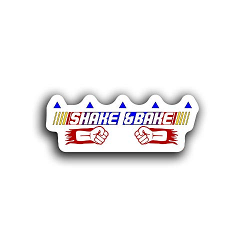 JMM Industries Shake and Bake Decal Ricky Bobby Quote Cute Funny Motivation Inspiration Saying 5.5-Inches by 2-Inches Premium Quality Vinyl Sticker UV Protective Laminate PDS2114
