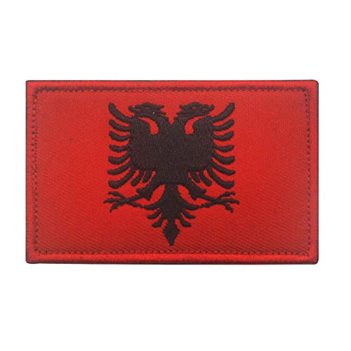 Albania Flag Patch Embroidered Military Tactical Morale Patches (Albania)