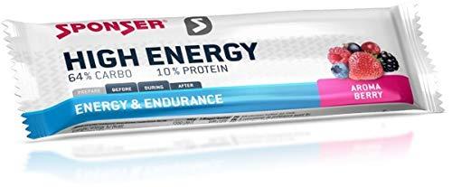 Sponser High Energy Bar, 30 x 45 g Riegel, Berry