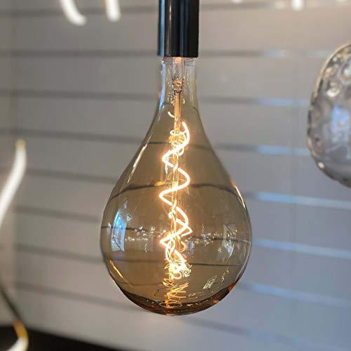 Kosilum LED-lampen, groot, hoogte 30 cm, met gedraaide gloeidraad, E27, warmwit, verlichting voor woonkamer, slaapkamer, keuken, hal, 4 W, 250 lm, E27, IP20