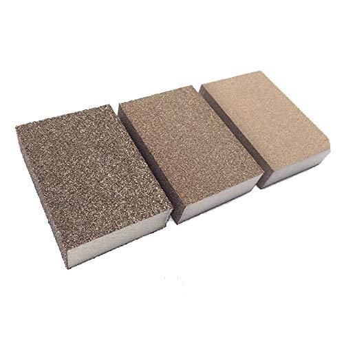 jidan Sandpaper Wet and Dry Assortment High Grit Sand Fast polishing Sponge Sand Block Ultrafine Sanding Paper Dry Stone/Knife/Leather/Wood polishing Block 3 Piece (Grit : 500 Grit)