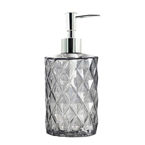 Glass Soap Dispenser, Bibilan Refillable Wash Soap Dispenser with Pump, Hand Liquid, Dish Detergent, Shampoo Lotion Bottle for Bathroom Countertop Kitchen Laundry Room