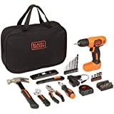 BLACK+DECKER 8V Drill & Home Tool Kit, 57 Piece (BDCD8PK)