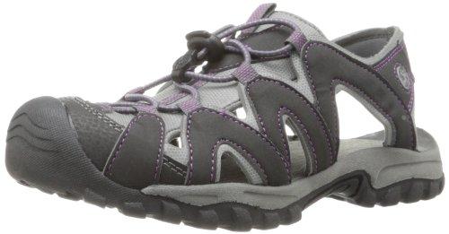 Northside Women's Corona Sandal,Black/Purple,10 M US