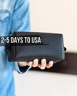 Leather Toiletry Bag For Men or Women Father's Day Gift Dopp Kit for Travel Leather Men Mens Leather Dopp Kit