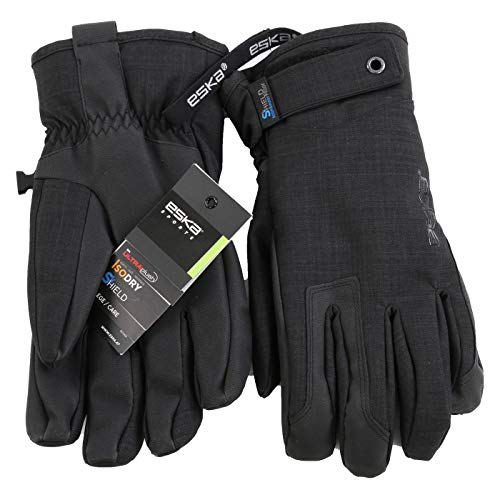ESKA Sports Herren Wintersport Ski Handschuhe DJ Shield Black 1562 ((XL) 9,5)