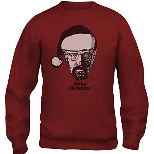 Felpa Girocollo Unisex Walter White - White Christmas - Bianco Natale Breaking Bad Fan Art - L-Rossa