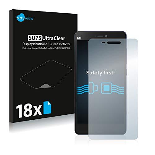 Savvies 18x Schutzfolie kompatibel mit Xiaomi Mi 4c Bildschirmschutz-Folie Ultra-transparent