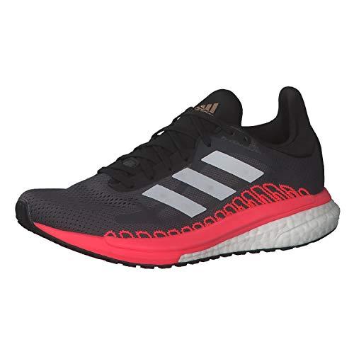 adidas Solar Glide St 3, Zapatillas de Atletismo para Mujer, Grefiv/Crywht/Sigpnk, 42 EU