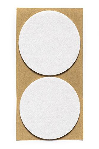 Filzgleiter selbstklebend KREIS, QUADRAT und RECHTECK für Bodenschutz, Kratzschutz oder Stuhlgleiter für Parkett- und Laminatboden | verschiedene Größen und Farben (rund | 80 mm | 2 Stück)