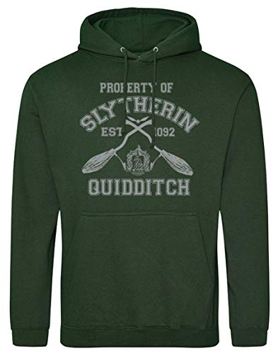 Slytherin-House-Quidditch-Hoodie-Harry-Potter-Movie-Inspired-Bottle-Green-Hoodie-Grey-Print