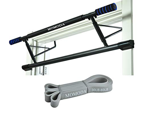 Chin Up Pull Up Door Bar Heavy Duty Doorway Exercise Bar with Resistance Band Total Upper Body Workout(bar with Band)