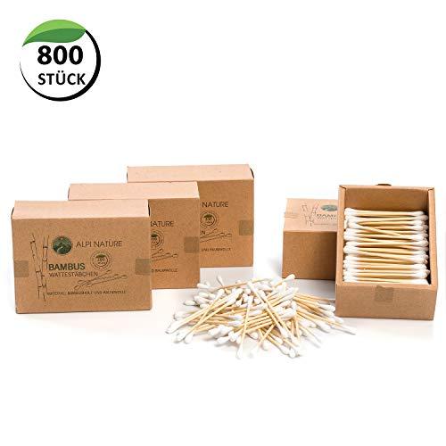 Bastoncillos de bambú para las orejas, Sin pelusas, veganos, respetuosos con el medio ambiente, cosméticos sostenibles sin plástico, Algodón suave, Para niños y adultos
