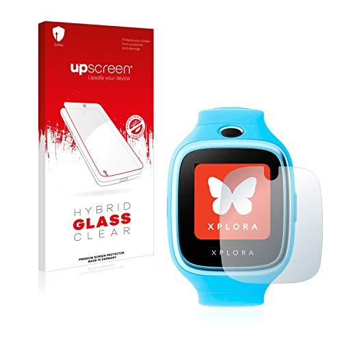 upscreen Hybrid Glass Panzerglas Schutzfolie kompatibel mit Xplora Go 9H Panzerglas-Folie