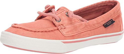 Sperry Womens Lounge Away Pastel Boat Sneakers Shoes Casual - Red - Size 5.5 B