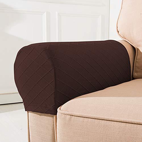 Armlehnenbezüge für Sofas, Armlehnenbezüge, Polyester-Armlehnenbezüge, Stretch-Sofa-Armlehnenbezüge für Stühle, Möbelschoner-Set, passend für quadratische Armlehnen, gebogene Armlehnen, breiter Bezug
