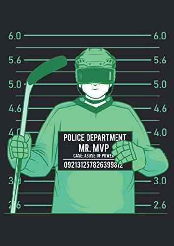 A4 Notizbuch liniert mit Softcover Design: Eishockey Hockey Schlittschuh Witz Spaß Lustig: 120 linierte DIN A4 Seiten