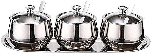Roestvrijstalen kruidencontainer set roestvrijstalen kruiden tank keuken barbecue barbecue tool seizoen tank kruiden set…