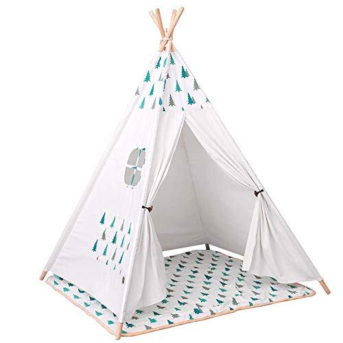 MLL Play Tents for Boys and Girls Small Wood Tent Play House Christmas Tree Girl Holiday Decoration Tent Foldable Children's Photography Tent Teepee Camping Tent