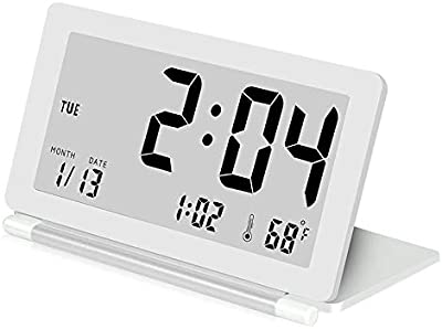 Naozhongg Temperatura Portátil De Escritorio, Despertador, Portátil, Portátil De Viaje.