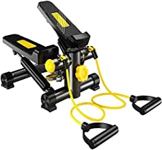 Marshal Fitness 2724641406721 Step Air Climber Stepper Twister Aerobic Fitness Exercise Machine with Resistance Band