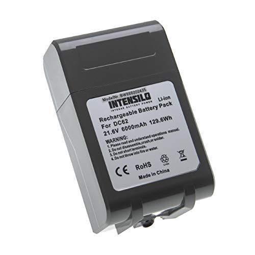 INTENSILO Batería recargable compatible con Dyson SV07 Animal Pro+, SV09, SV09 Total Clean aspiradora, robot limpieza (6000 mAh, 21,6 V, Li-Ion)