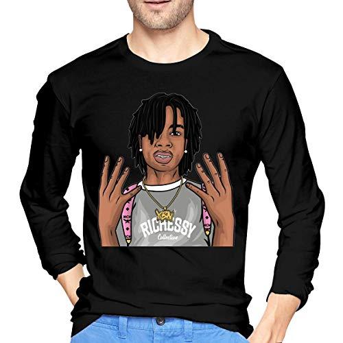Camiseta de los Hombres Mens Particular YBN Nahmir Long Sleeve T Shirt Black Unique Design