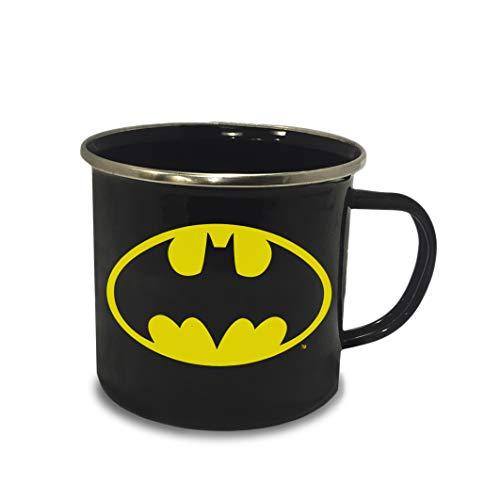 Logoshirt - DC Comics - Batman Logo - Emaillebecher - Lizenziertes Original Design
